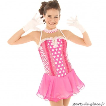 tenue de patinage pink zebra dot sports de. Black Bedroom Furniture Sets. Home Design Ideas