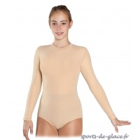 Nude skating or dance leotard