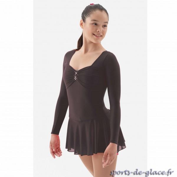 robe de patinage artistique noire sports de. Black Bedroom Furniture Sets. Home Design Ideas