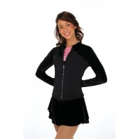 Rhinestone Zipper Jackey