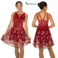 Robe de danse Rouge D'or