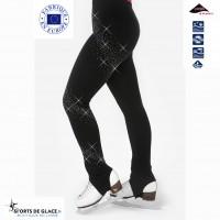 Thinestones design Stirrup skating pants