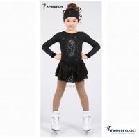 Bielman rhinestones black skating dress