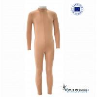 long sleeves Nude unitard