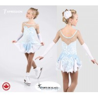Robe de patinage princesse de la glace