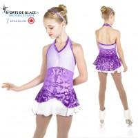Robe de patinage Purple little angel