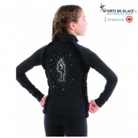 veste supplex strass patineuse Bielman