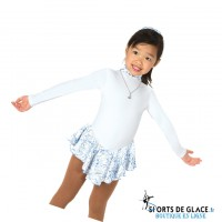 Robe de patinage polaire princesse des neiges
