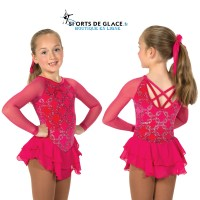 Robe de patinage rose Chain Effect