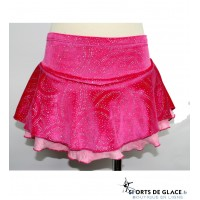 Jupette de patinage rose