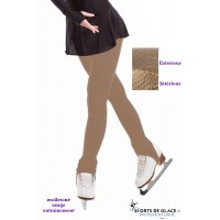 beige fleece stirrup tights
