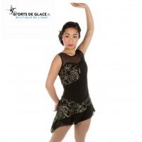 Tunique de patinage Black tango