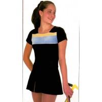 velvet tech dress - S
