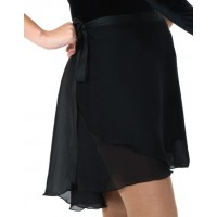 Black Dance Wrap Skirt.