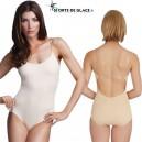 Low back Nude camisole leotard with BraTek®