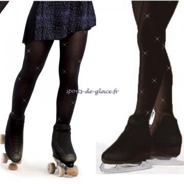 2d5257a041e4e rhinestones over the boot black skating tights - SPORTS DE GLACE France