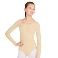 long sleeves nude leotard