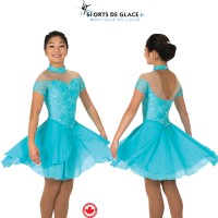 Robe de danse dentelle Tiffany Blue