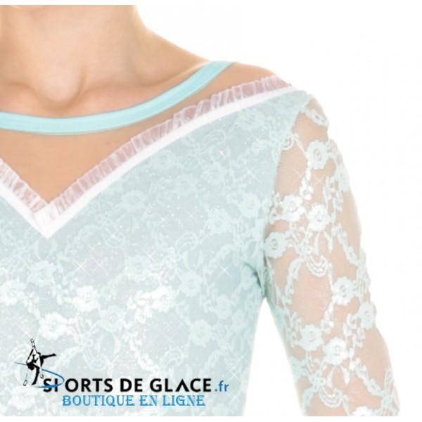 095fc68e3d Elite Xpression pastel lace dress. Classical velvet ice dance dress   Classical velvet ice dance dress ...