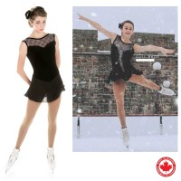 Elite Xpression black elegance skating dress