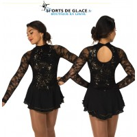 Liquid Onyx figure skating Dress
