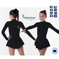 warm fleece skating dress