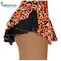 Jupette de patinage double back leopard funky