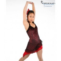 black and red Tango skating dress