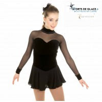 Elite classical black skating dress