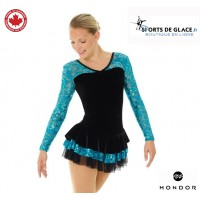 Lace and sequins mondor skating dress