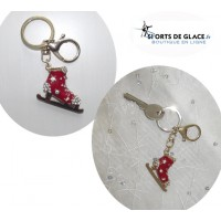 Red ice skate keychain