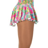 Twinkle velvet Pink Bouquet Skirt