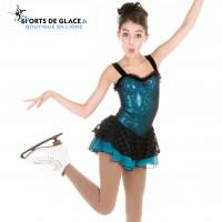Teal figure skating dress