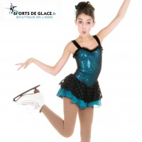 Tunique de patinage teal