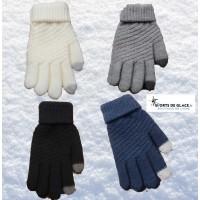 gants chaud tricotés tactile portable