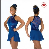 Tunique de patinage Lace drop bleu royal