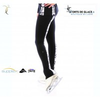 Legging de patinage noir et blanc