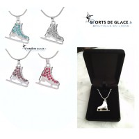 reversible ice skate necklace
