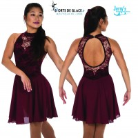 Robe de danse sur glace Deep Edges Bordeaux