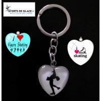 Porte clé Patinage Love