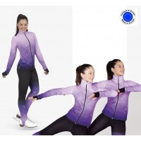 crystal Night fleece skating Jacket + pants set