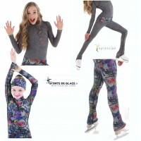 Xpression reversible Graffiti top+Legging