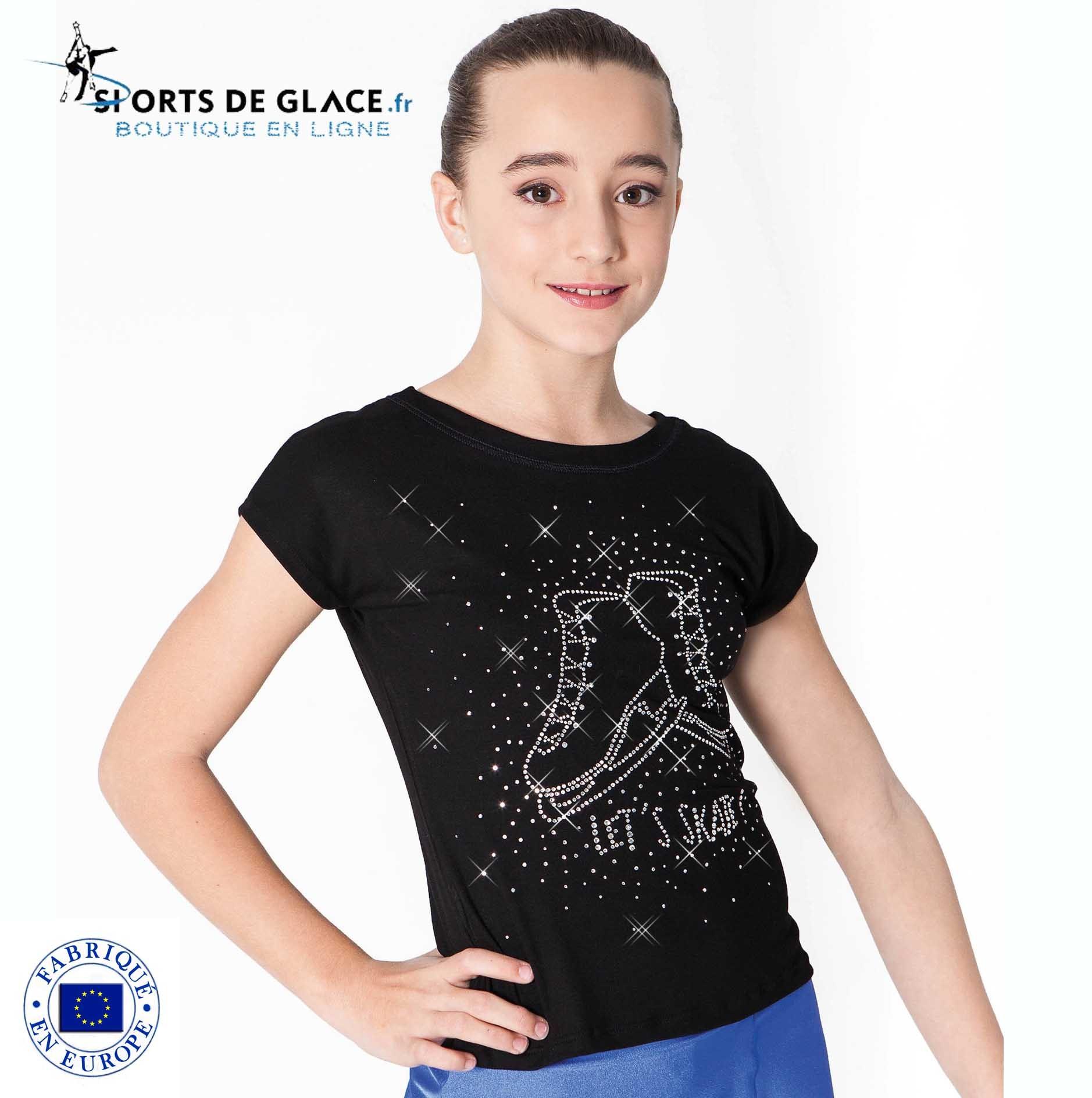 3ec9e794d8e8d T shirt patins strass - SPORTS DE GLACE France