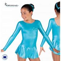 Robe métalisée bleue skating