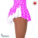 White and Pink double back Skirt