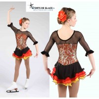 Fire spanish skating dress 6-8