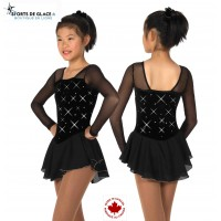 tunique de patinage jerrys velours noir et strass