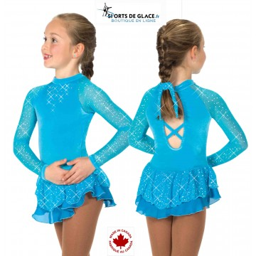 Tunique de patinage Starshine Bleue