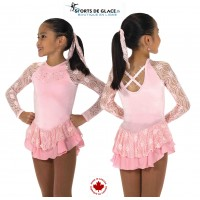 Robe de patinage Ribbon Lace rose