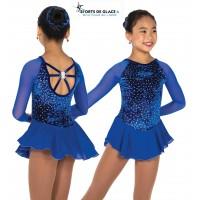 Tunique de patinage Diamond Chips bleue royal
